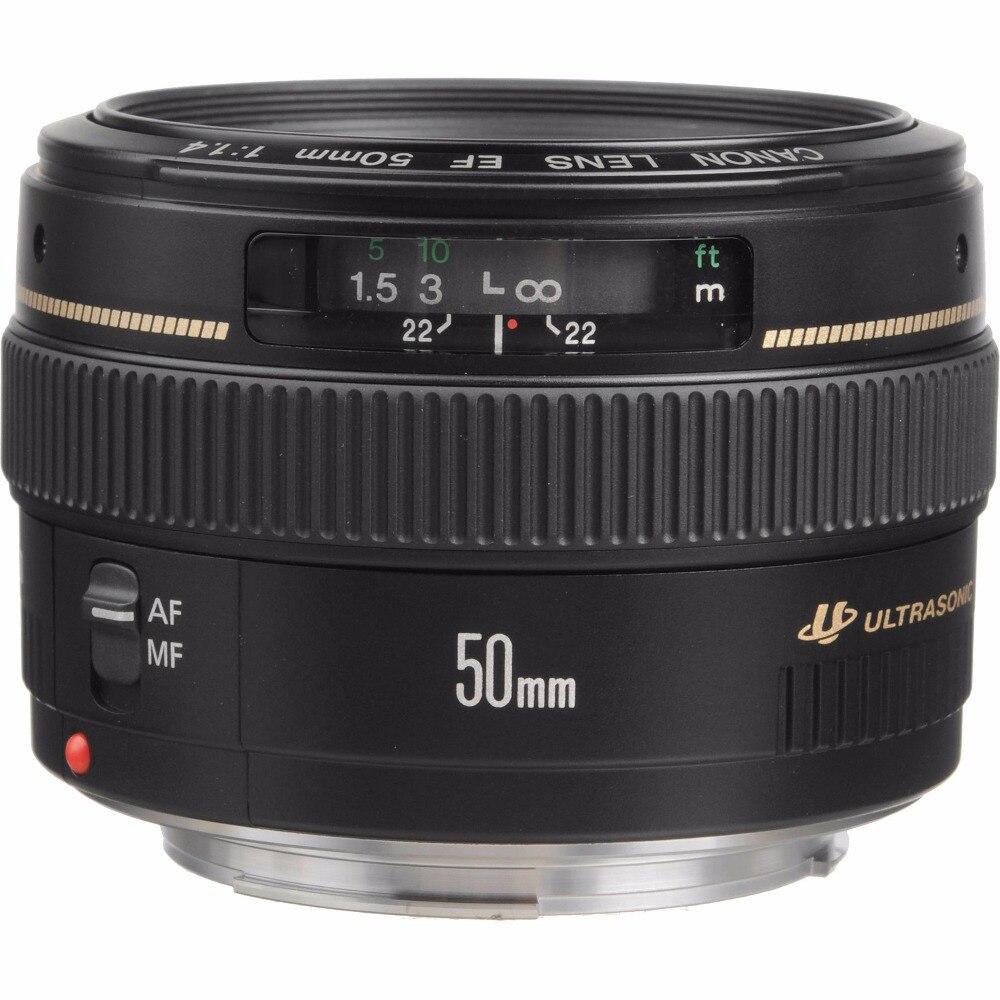 Canon EF 50mm F/1.4 F1.4 Objectif USM Pour 600D 650D 700D 750D 760D 200D 1300D 60D 70D 80D 7D T4 T5 T3i T5i