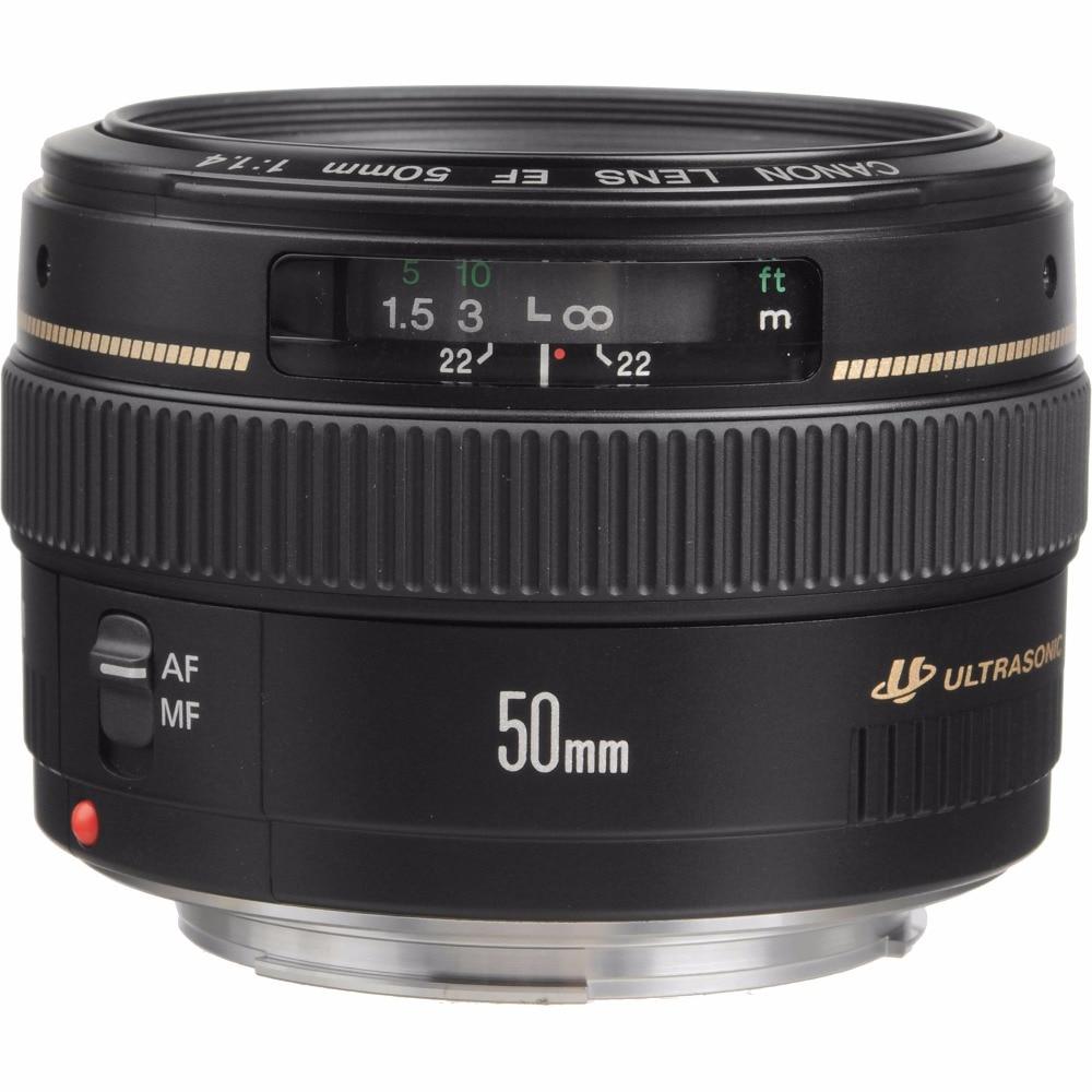Canon EF 50mm F/1.4 F1.4 USM Lens Per 600D 650D 700D 750D 760D 200D 1300D 60D 70D 80D 7D T4 T5 T3i T5i