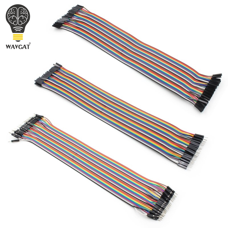 WAVGAT Dupont Line 40pcs 30cm Male To Male + Male To Female And Female To Female Jumper Wire Dupont Cable For Arduino