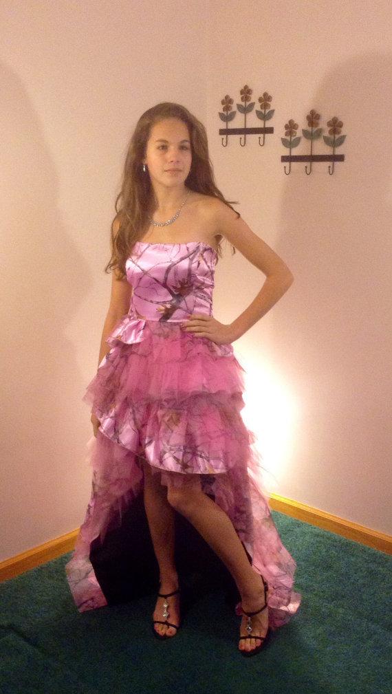 Pink Camo Prom Dress Short – fashion dresses
