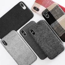 Cloth Texture Phone Case iPhone 6 6s Plus 7 8 Plus X XS XR