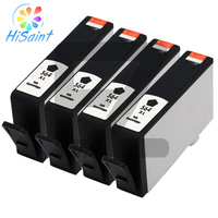 2015New Hisaint 4Pk Ink Cartridge For HP 564XL Black PhotoSmart 7510 7520 5510 5520 6510 Printer