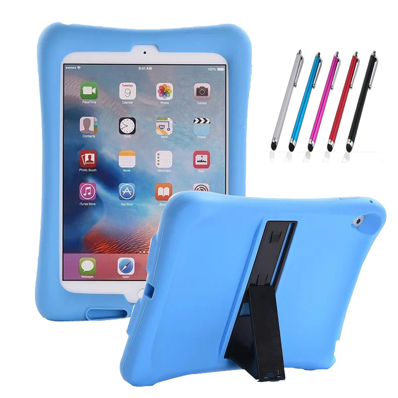 new For Apple iPad Pro 9.7 Case Cover Silicon Kids Protective Baby Shock Proof Foam Stand With Audio Amplifier +stylus pen drop shock proof eva smart cover for apple ipad pro 9 7 inch cases kids children safe silicon for ipad pro 9 7 protective case