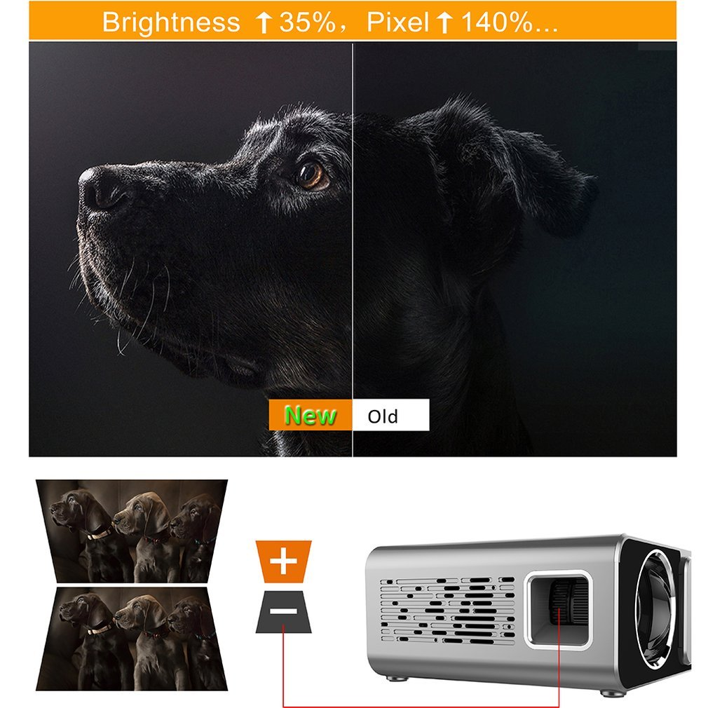 UNIC W80 светодиодный 4K 1080P проектор Full HD HDMI USB Mini Android Bluetooth lcd домашний кинотеатр медиаплеер HIFI 16:9 обычный - 4