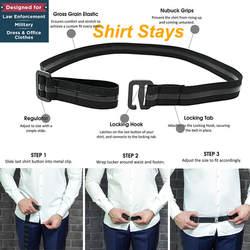 2019 рубашка с держателем для мужчин и женщин, регулируемая рубашка для отдыха, лучшая рубашка для мужчин, черная Облегающая рубашка с ремнем