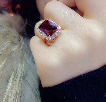 Brilliant Amazing Square Red Stone Ring s