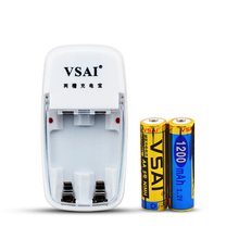 VSAI 2 Lots Battery Charger + 2pcs AA 1200mah Rechargeable Batteries For Toys Clock