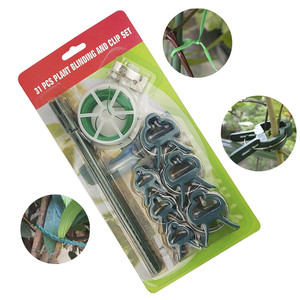 Image 2 - 31pcs/set plant clips Tomato Clips for plants Trellis Flower Vegetable Binding and Clip Set  Binder Binding Wire Plant Clip