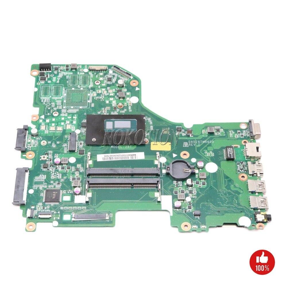 NOKOTION DA0ZRTMB6D0 NBMVH11001 NB. MVH11.001 Del Computer Portatile consiglio Principale Per <font><b>acer</b></font> aspire E5-573G scheda madre I3-4005U 1.7 ghz CPU