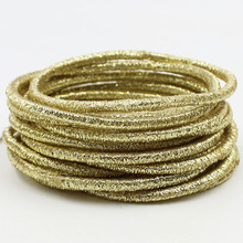Aikelina Free Shipping 20pcs/lot 0.25cm Gold and silver shiny hair circle Colored Child Hair Bands Girl Women Hair Accessories free shipping 5pc lot 3 pin on off on 3 position cqc rohs silver point flat handle rc transmitter ac 6a 125v