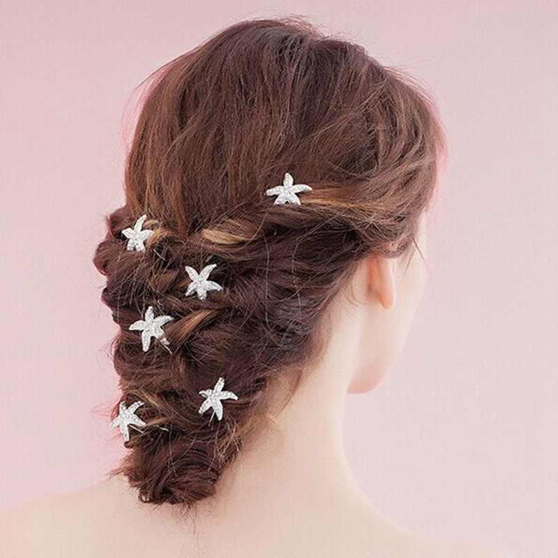 אופנה חתונה כלה פנינת פרח ברור קריסטל ריינסטון שיער סיכות קליפים שושבינה Hairwear תכשיטי שיער Accessorie