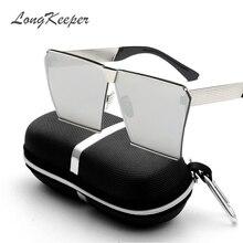 LongKeeper New Colors Women Sunglasses Unique Oversize Shield UV400 Gradient Vintage eyeglasses frames for Women With Case