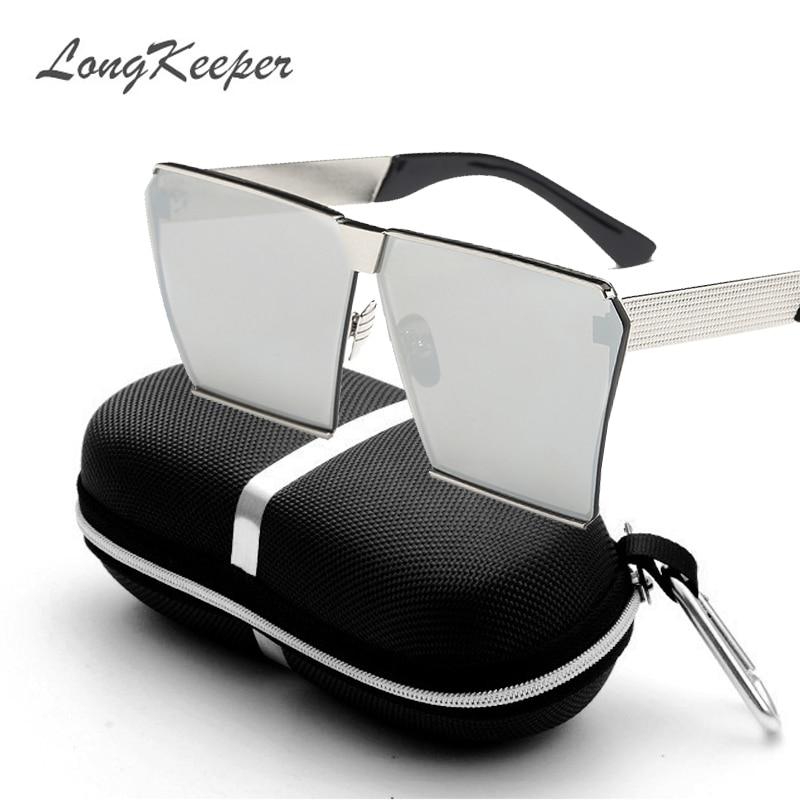 LongKeeper Nya färger Kvinnor Solglasögon Unika Oversize Shield - Kläder tillbehör