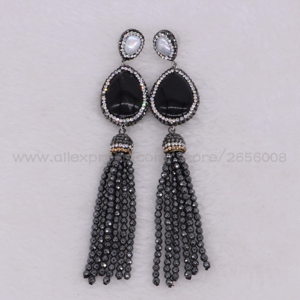 earring earrings and white rayhana black barka store onyx