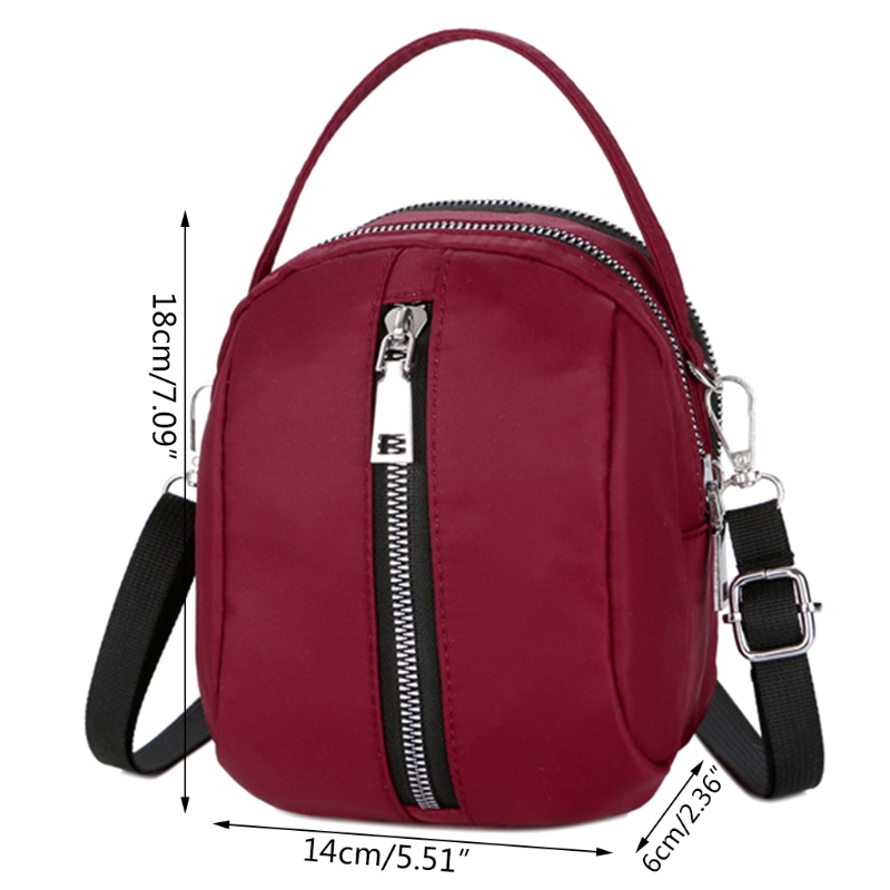 3 Layer Zip Crossbody Bag Phone Purse Wallet Nylon Handbag for Women-in Shoulder  Bags from Luggage   Bags on Aliexpress.com