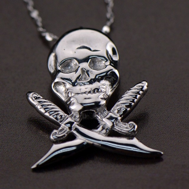 Skull head real 925 sterling silver pendant men man jewelry fashion skull head real 925 sterling silver pendant men man jewelry fashion design skeleton valentine gift mozeypictures Choice Image