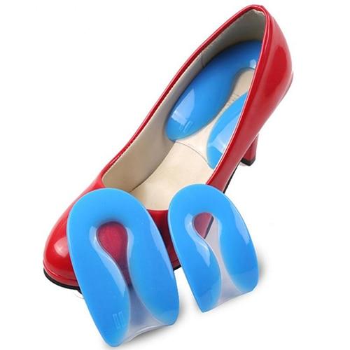 1 Pair Women Shoe Silicone Gel U Shape Heel Cushions Pain Relief Insert Soles Pads