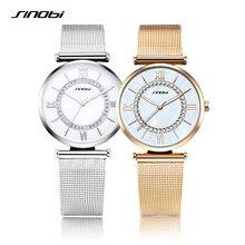 SINOBI Femmes Montres Dames Mode Élégante Montre-Bracelet Strass Femelle Étanche Horloge Bracelet Montres Relogio Feminino