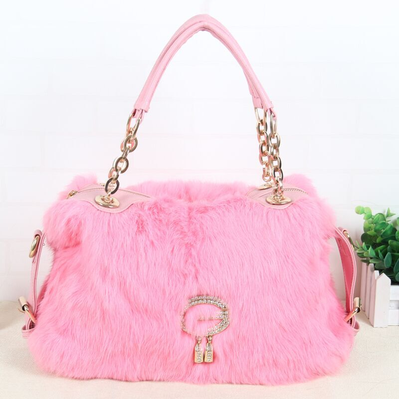 цены Real hair rabbit hair bag 2018 new rex rabbit hair shoulder bag rabbit hair ladies chain G word bag fashion luxury handbag P#17