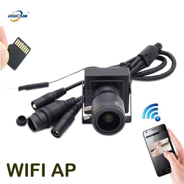 HQCAM 720P 960P 1080P Mini kamera IP WIFI P2P gniazdo kart sd Wifi AP bezprzewodowa Mini kamera IP soczewka powiększająca reszta i miękka antena camhi