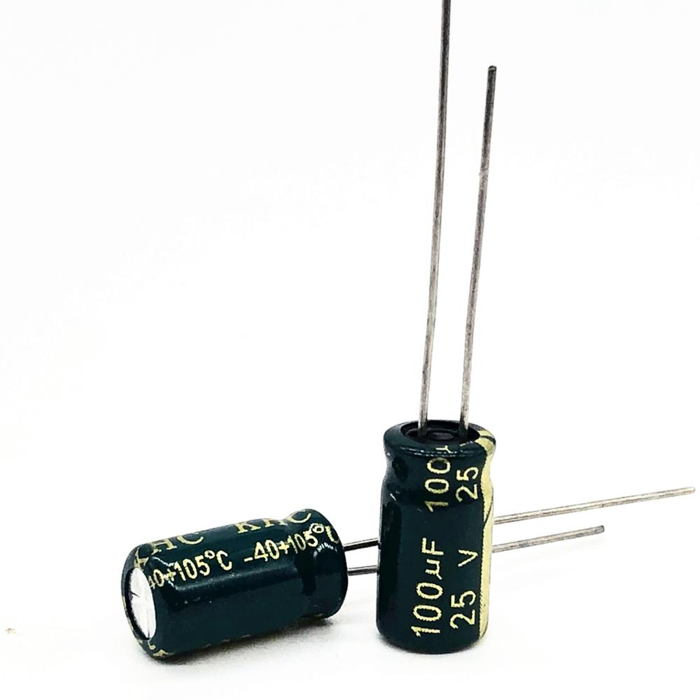 30pcs/lot 25V 100UF 6*12 High Frequency Low Impedance Aluminum Electrolytic Capacitor 100uf 25v 20%