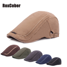 RoxCober Mens Womens Vintage Newsboy Caps Ivy Golf Driving Sun Flat Cabbie Cotton Gatsby Hats Adjustable Berets
