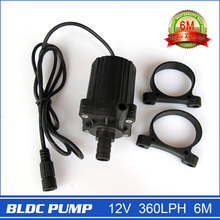 Newest! 12V DC Mini Pump, 360LPH 6.5M, Submersible brushless DC magnetic driven, For circulation, fountain, cooling system, etc.