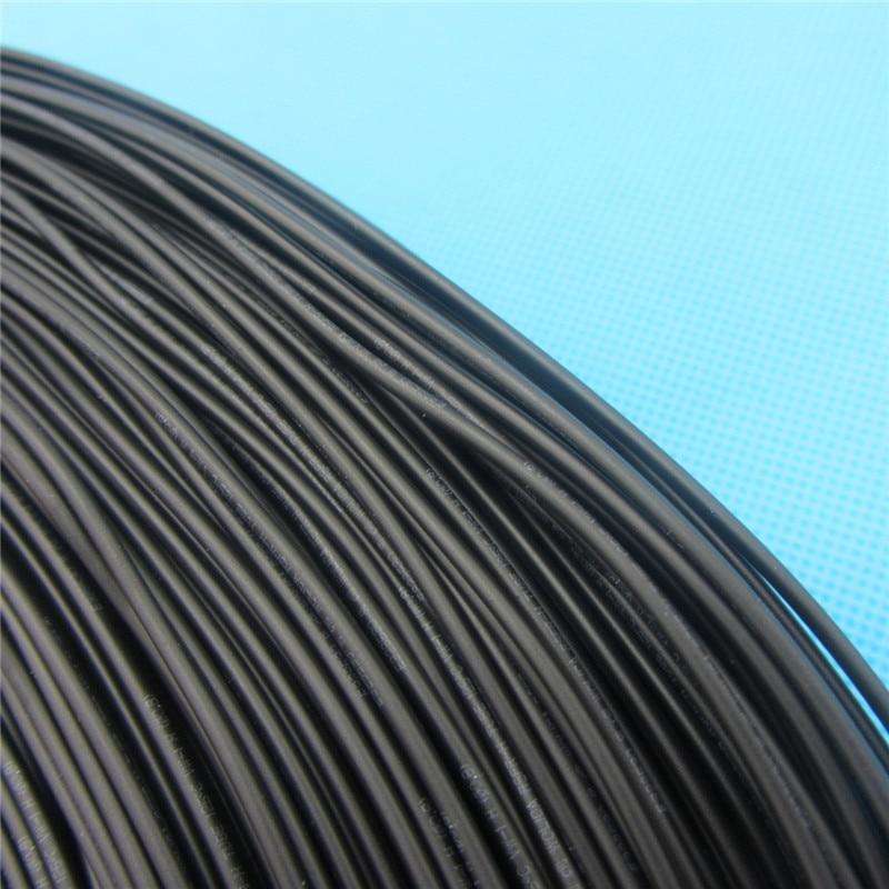 1m Heat Shrink Insulation Sleeving Heatshrink Black Tube Inner Diameter 0.6mm