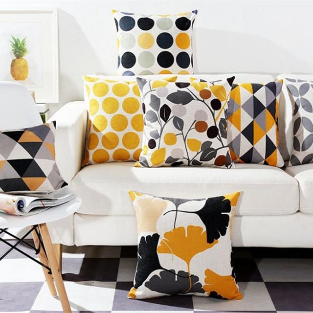 Di modo Colourful Geometrica Fodere per Cuscini Complementi Arredo Casa Grigio F