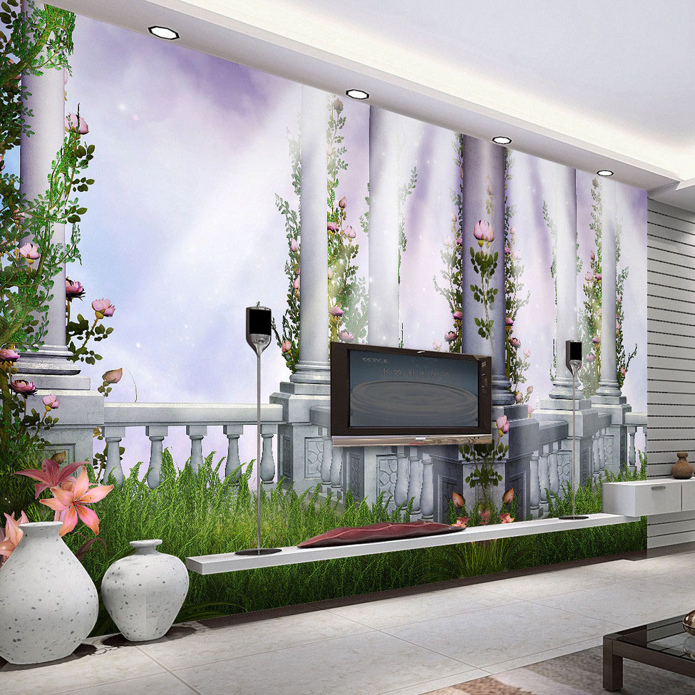 3D Room Wallpaper Custom Mural Non-woven European Style Roman Column 3D Stereoscopic Living Room TV Background Home Wall Paper  free shipping 3d stereo angel rome column fantasy wallpaper mural custom dining room children room background wallpaper