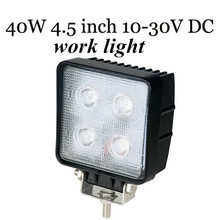 big sale Offroad 4×4 Truck tractor Boast SUV ATV LED Work light  2pcs40W LED Work light lamp square FLOOD BEAM