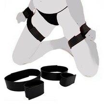 Adult Games BDSM Hand Bondage Slave Handcuffs Thigh Restrictions Adjustable Leg