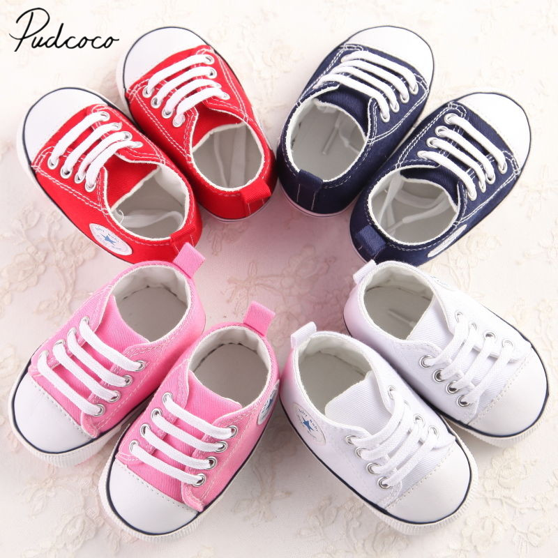 Shoes Cribs First-Walkers Stars Soft-Sole Newborn Baby-Girls Infant Cotton Boys Casual