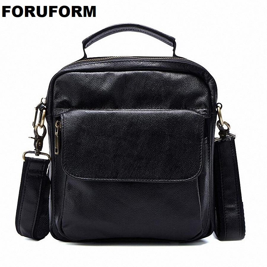 Genuine Leather Men Bags Hot Sale Male Small Messenger Bag Man Fashion Crossbody Shoulder Bag Men's Travel New Bags LI-1850 hot 2017 genuine leather bags men high quality messenger bags small travel black crossbody shoulder bag for men li 1611