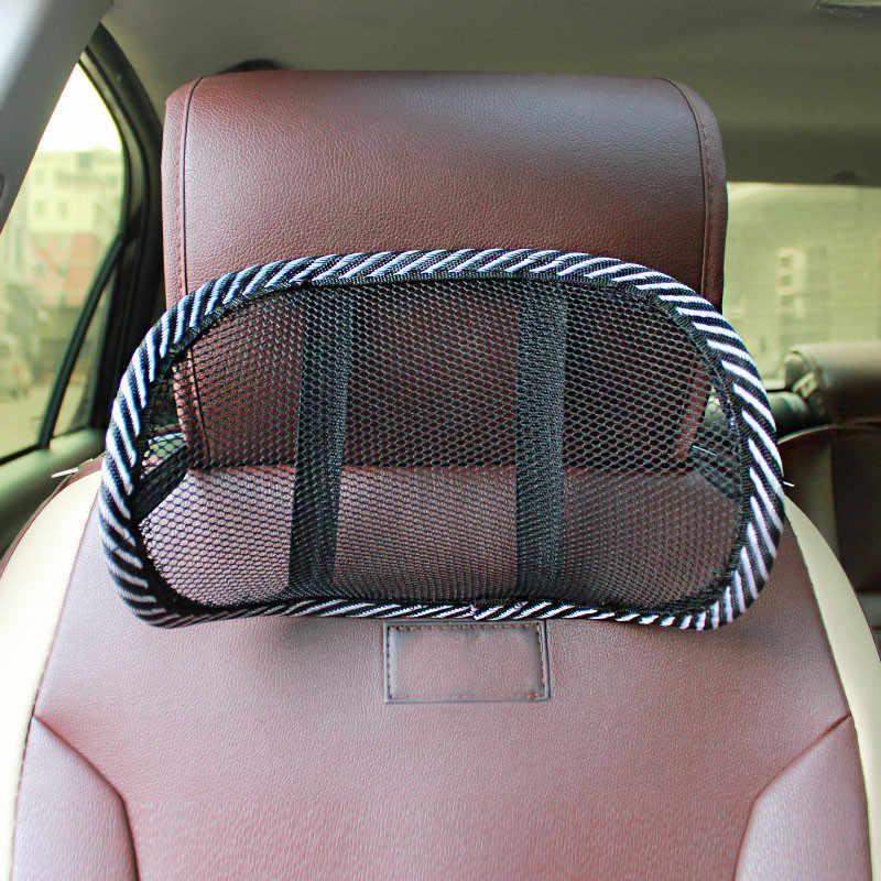 Asiento de coche reposacabezas negro malla de viaje almohada cuello de apoyo cojín del asiento de coche Chirstmas regalo ENVÍO DE LA GOTA May17