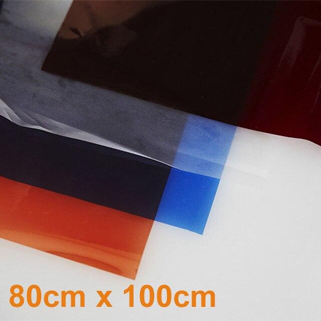 Photo Studio 4pcs/Set 80cm x 100cm Color Gel Filter Paper For Studio Video Lighting Photo Studio Accessories Hot Sales