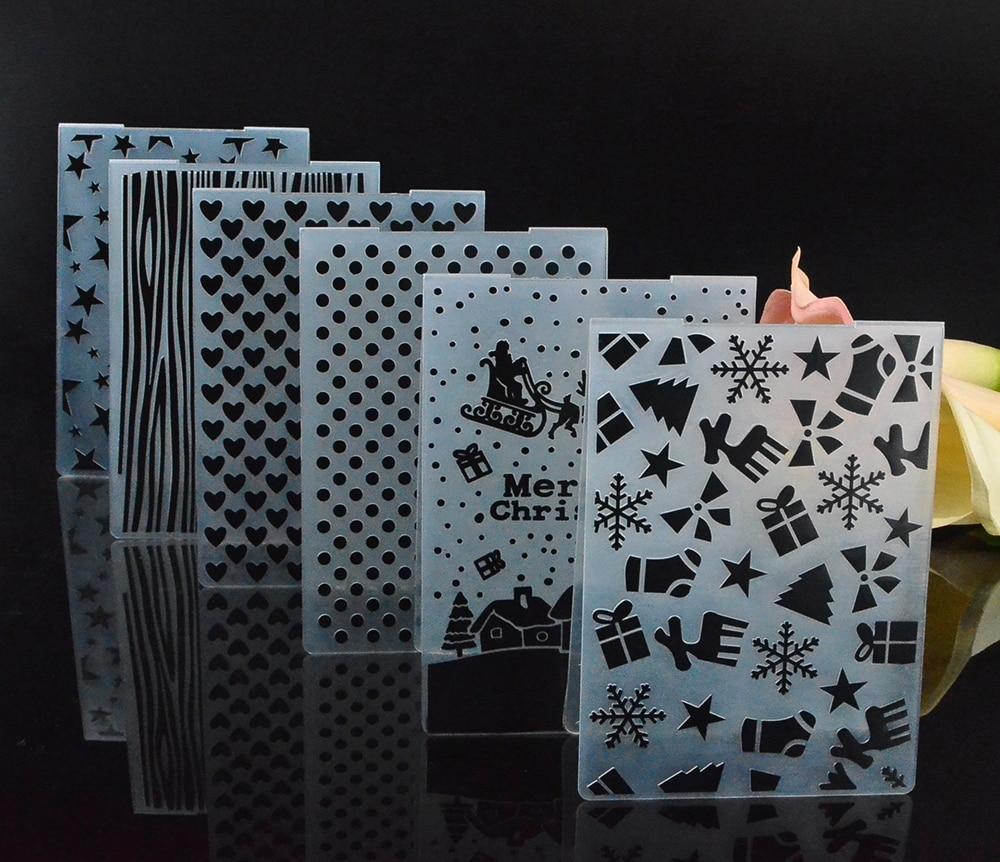 Scrapbooking DIY Fotoalbom hədiyyə sənətkarlıq kartı hazırlamaq üçün plastik boşaltma qovluğu