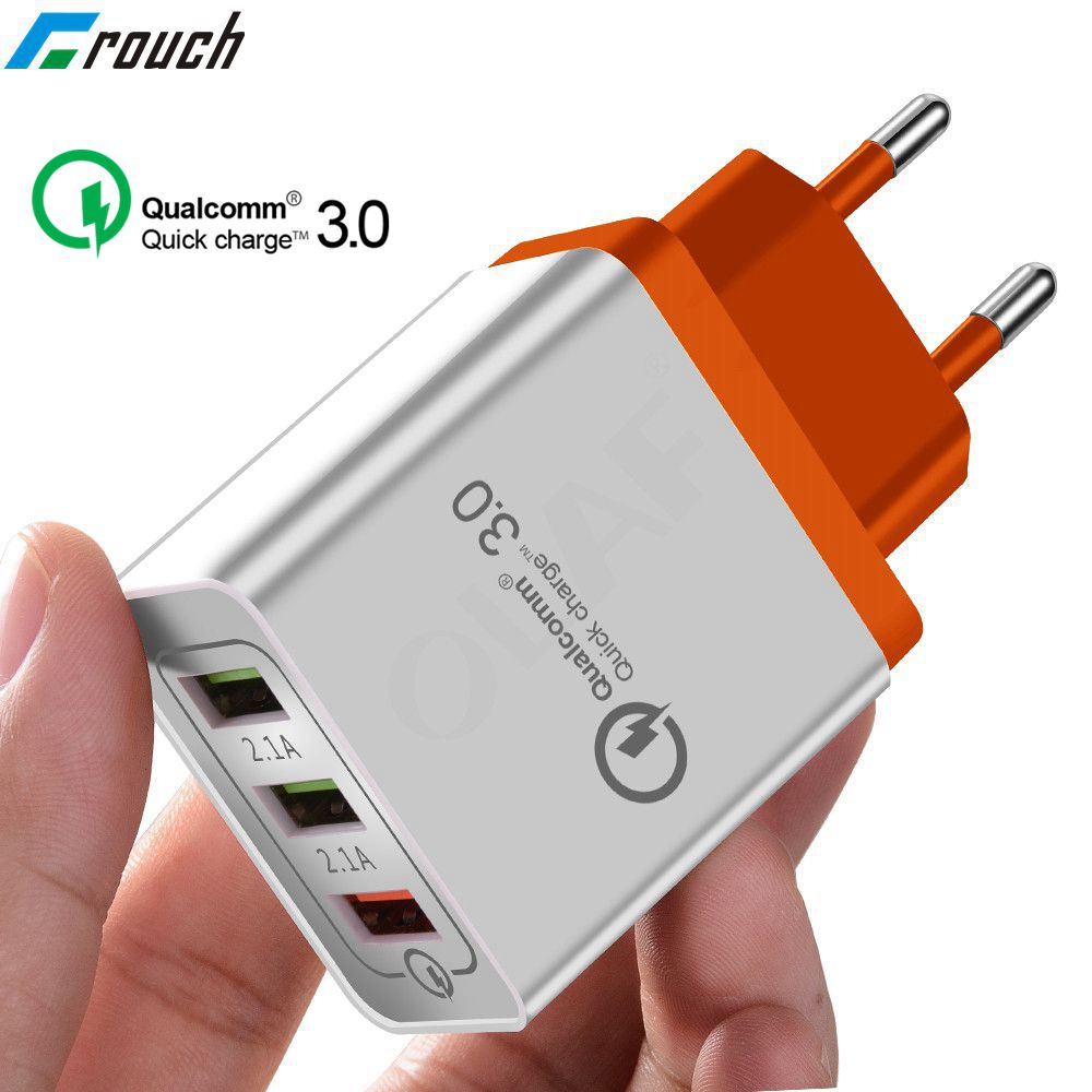 18W Quick Charge 3.0 Fast USB Charger For iPhone 8 XS Samsung Xiaomi huawei Travel Wall EU