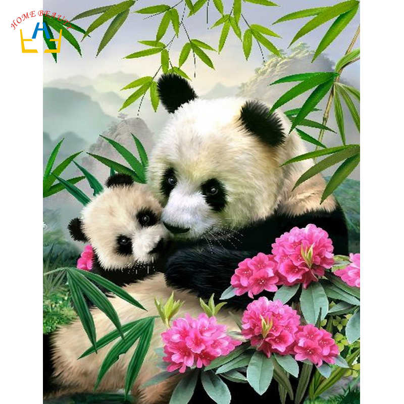 animals panda pictures for drawing by numbers diy hand painted paints on canvas wall art paintings for the kitchen RA3123