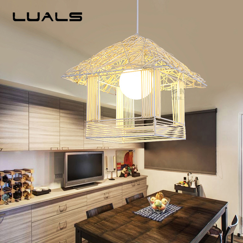 Nordic Rural Pendant Lamp Creative Grass Rattan Led Pendant Light For Bedroom Living Room Lamp Decoration Modern Indoor Lighting