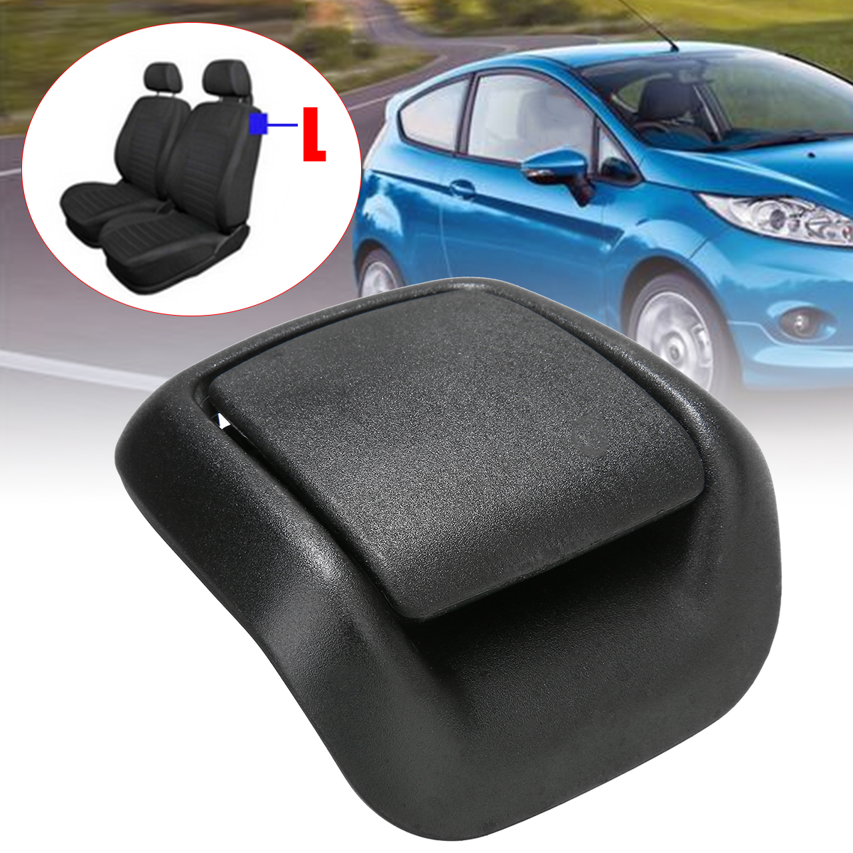 Mayitr 1pc Front Left Side Seat Tilt Handle Plastic 1417521 For Ford Fiesta MK6 VI 3 Door 02-08