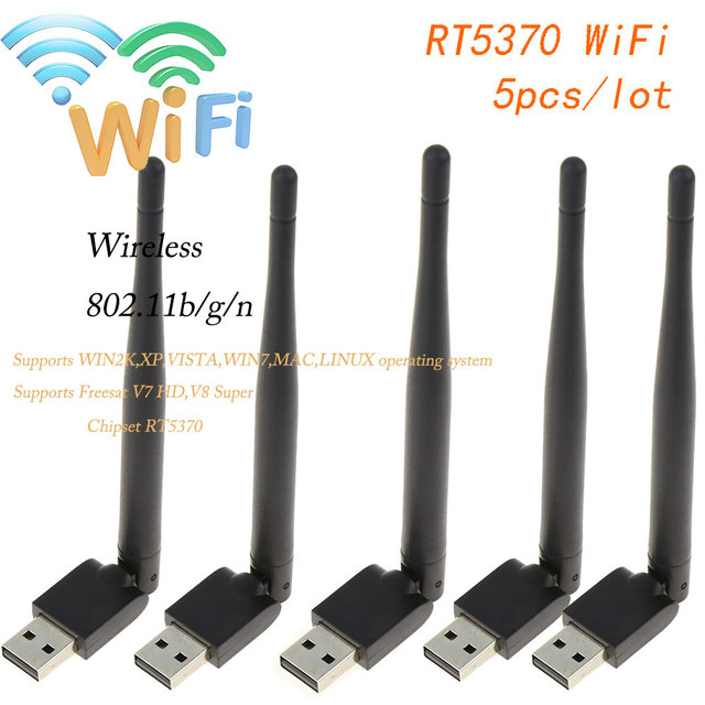 SATXTREM Mini V8 WiFi Wireless with Antenna Chipset WiFi RT5370 adapter 150M USB WiFi For V8 FREESAT Super,V7 HD