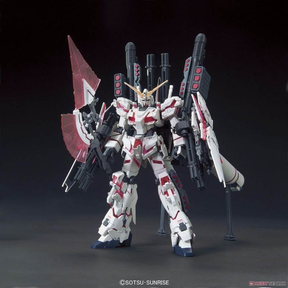Bandai HGUC 199 Full Armor Unicorn Gundam Destroy ModeRed Color Ver. model kit hobby scale model building bandai bandai gundam model sd q version bb 309 sangokuden wu yong bian xiahou yuan battle