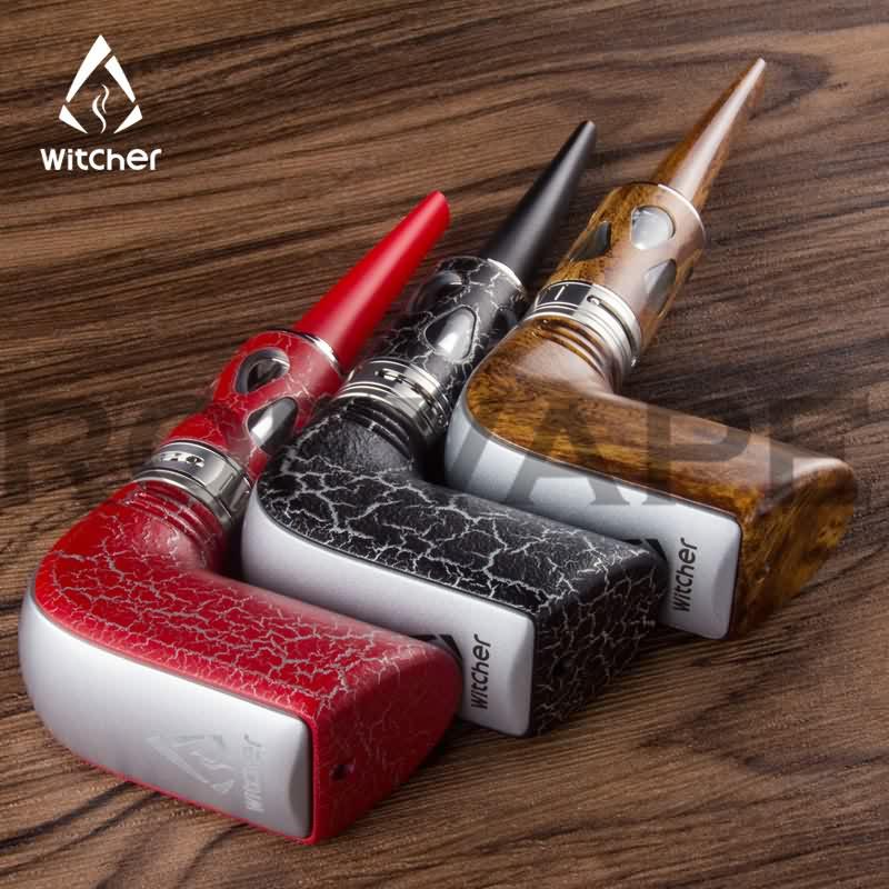 Rofvape Witcher Stalin 40W E-Pipe Starter kit Huge Vapor Wooden Design E pipe Electronic Hookah Vape Pen Electronic Cigarette stalin