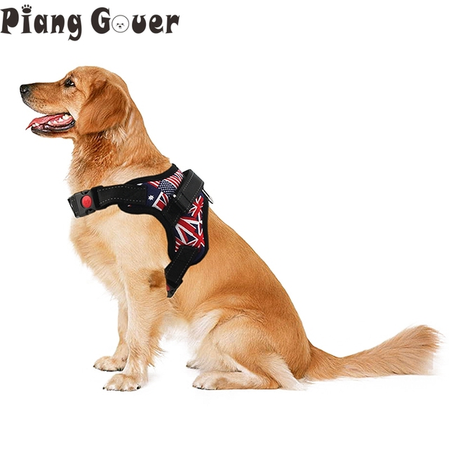 Adjustable Medium and large Pet Dog Harness Padded Soft Comfort Dog