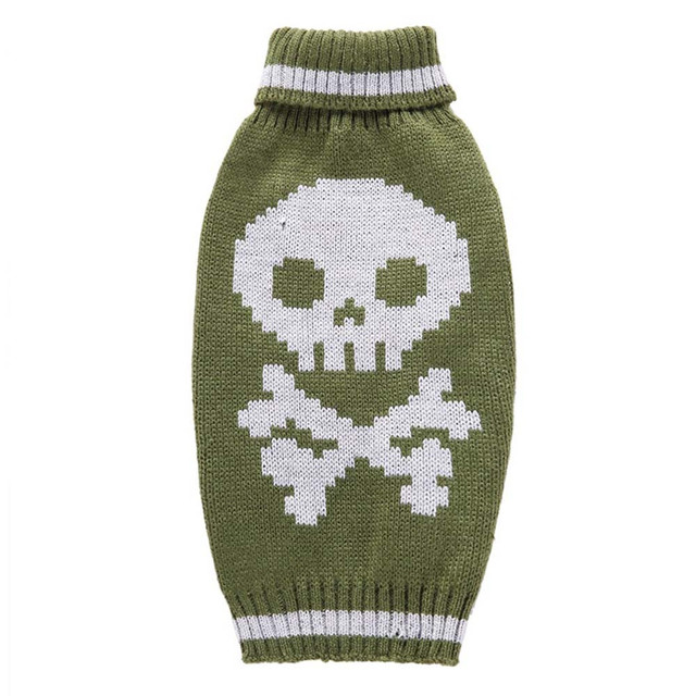 1 unid Halloween esqueleto hierba verde lindo perro mascota ropa ...