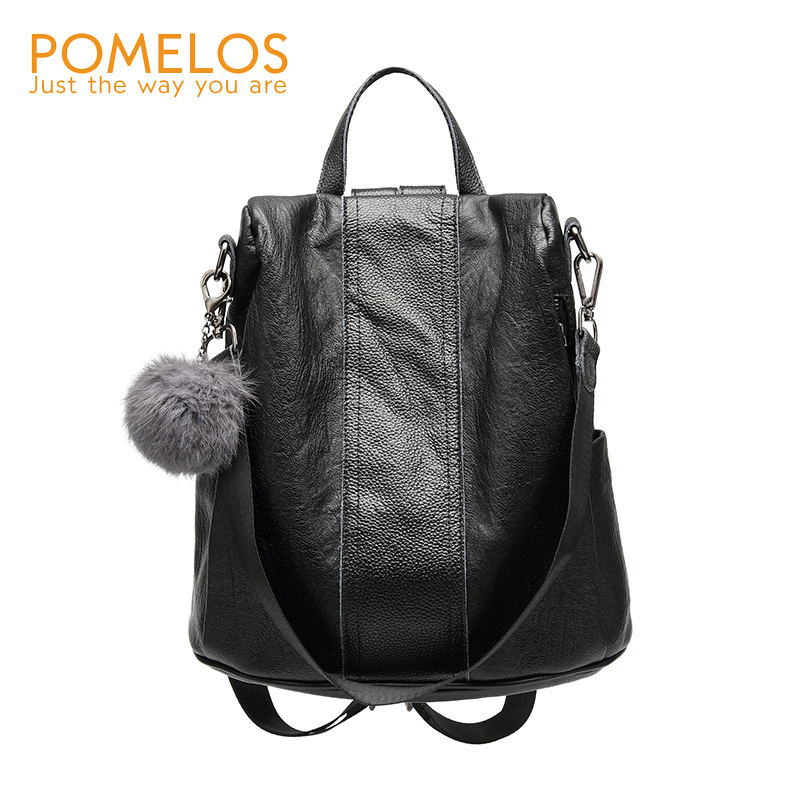 POMELOS New 2018 Fashion Women Backpack Soft Leather Travel Backpack Female High Quality Women Back Pack Rucksack Girl Backpacks pomelos backpack female designer new women leather backpack anti theft high quality soft back pack casual backpacks school bags