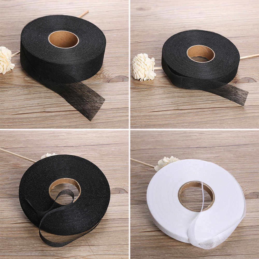 1Roll 100meters Wonder Web Iron On Hemming Tape Single-sided Adhesive Fabric Roll Clothes Sewing Turn up Hem DIY Craft 2019 New