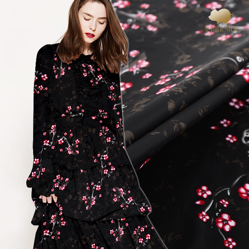 Perspective digital inkjet silk georgette fabric summer thin chinese silk fabric breathable scarf dress shirt silk fabric clothPerspective digital inkjet silk georgette fabric summer thin chinese silk fabric breathable scarf dress shirt silk fabric cloth