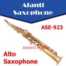 Afanti Music Bb tone / Brass body / Glod finish Soprano Saxophone (ASE-923)